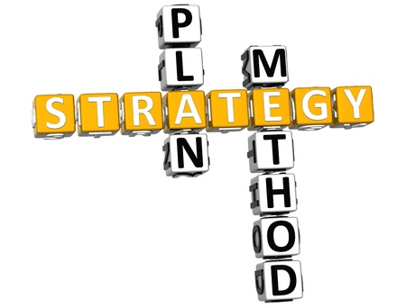 crossword: 3D Career Strategy Crossword on white background