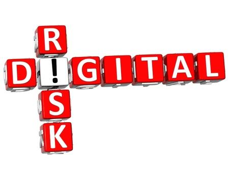 3D Digital Risk Crossword on white background Stock Photo - 11841676