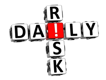 3D Daily Risk Crossword on white background photo