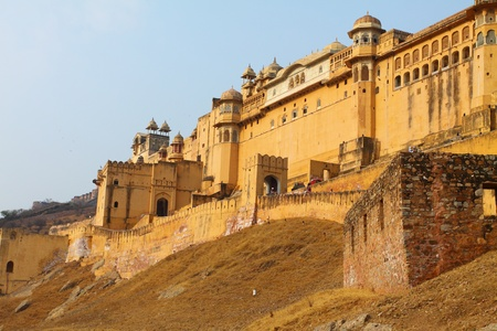 rajput: Amber Fort in Jaipur in India.