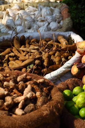Various vegetables at vegetable market. India Stock Photo - 12309712