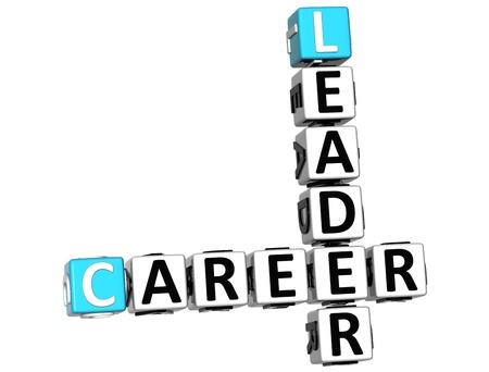 3D Plan Career Crossword on white background Stock Photo - 12309352