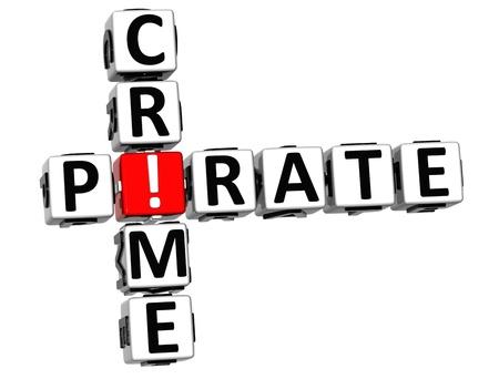3D Digital Crime Crossword on white background Stock Photo - 12309316