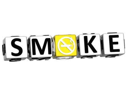 3D Dont Smoke Crossword on white background Stock Photo - 12309219