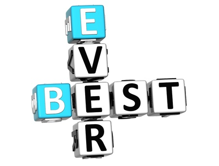 3D Best Ever Crossword on white background Stock Photo - 12309150
