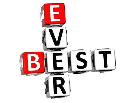 ever: 3D Best Ever Crossword on white background Stock Photo
