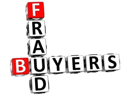 3D Buyers Fraud Crossword over white background photo