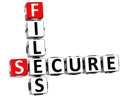 3DSecure File Crossword over white background photo