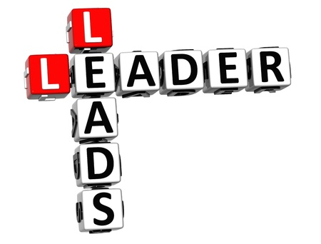 leads: 3D Leader Leads Crossword on white background