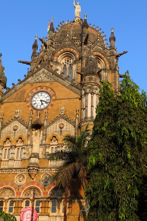 terminus: Victoria Terminus Train Station in Mumbai (India)