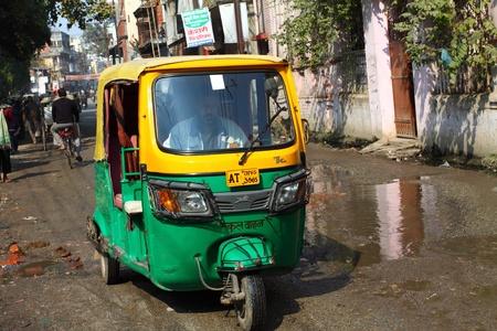 Tuk Tuk  auto rikshaw in Varanasi.