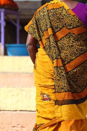 vestment: Indian women in national clothes in Varanasi, Uttar Pradesh, India.
