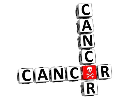3D Cancer Crossword over white background Stock Photo - 12309010