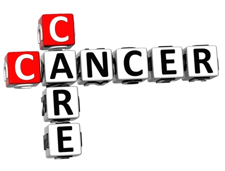 3D Cancer Care Crossword over white background