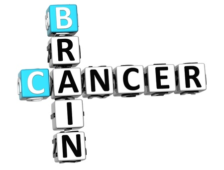 3D Cancer Brain Crossword over white background Stock Photo - 12309017