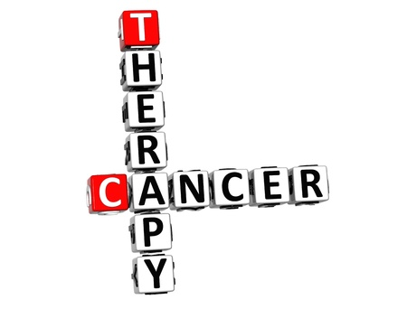 3D Cancer Therapy Crossword over white background Stock Photo - 12309030