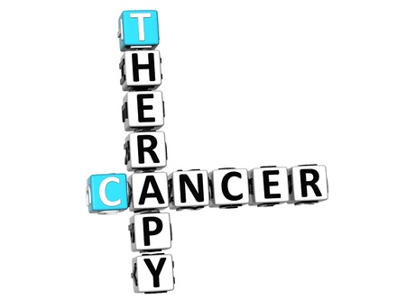 3D Cancer Therapy Crossword over white background photo