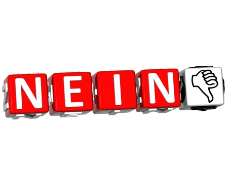 The word No in many different languages. Block text over white background. photo
