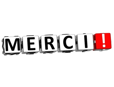 merci: The word Thank you in many different languages. Block text over white background. Stock Photo