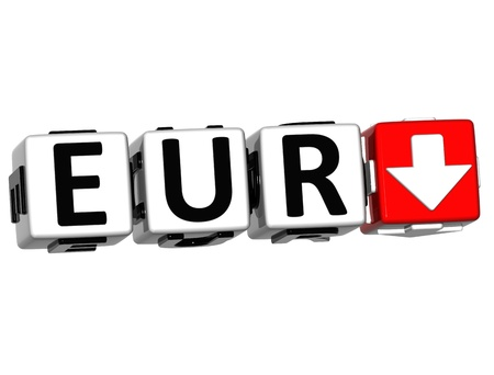 eur: Currency EUR rate concept symbol button on white background