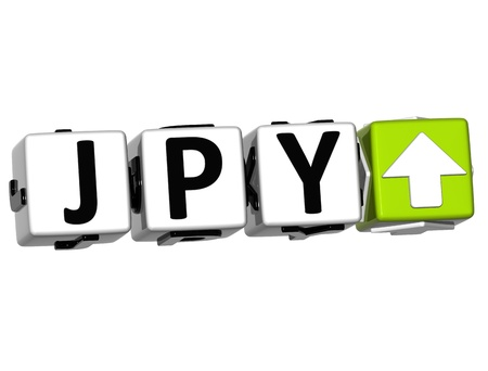 jpy: Currency JPY rate concept symbol button on white background