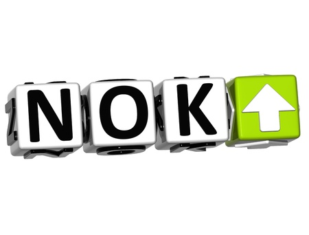 Currency NOK rate concept symbol button on white background photo