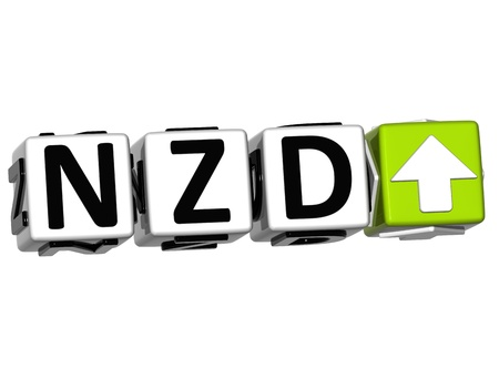 new zealand word: Currency NZD rate concept symbol button on white background