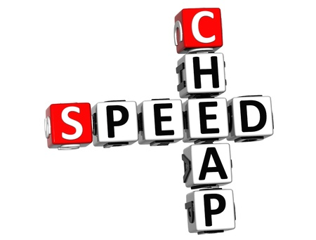 3D Get Speed Test Cheap Crossword on white background photo
