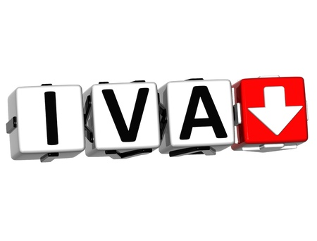 levied: 3D Iva button block cube text over white background Stock Photo