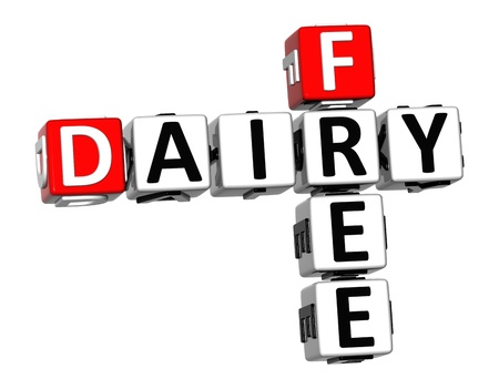3D Dairy Free Crossword cube words on white background Stock Photo - 12570442
