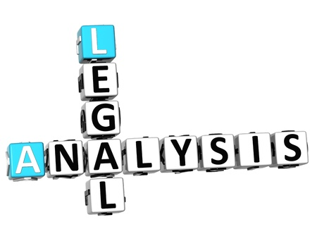 3D Legal Social Analysis Crossword cube words on white background Stock Photo - 12570343