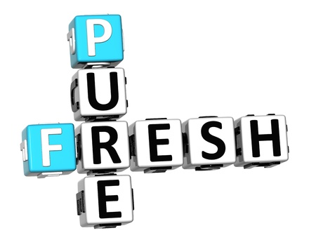 3D Pure Fresh Crossword text on white background Stock Photo - 12570789