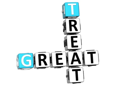 3D Great Treat Crossword on white background  Stock Photo - 12570614