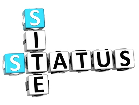 status: 3D Status Site Crossword on white background  Stock Photo