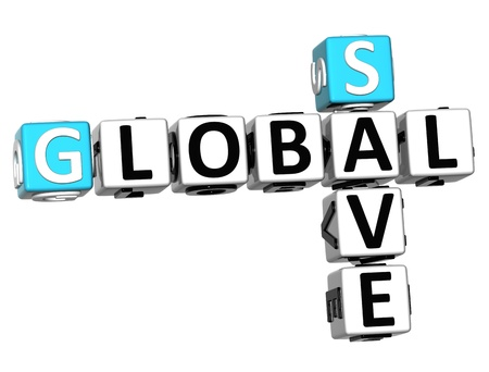 global trade: 3D Global Trade Crossword cube words on white background  Stock Photo