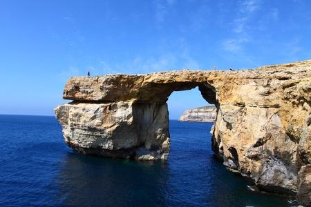 Azure Window, famous stone arch on Gozo island, Malta photo