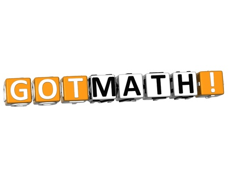 3D Got Math Cube text on white background Stock Photo - 12964587
