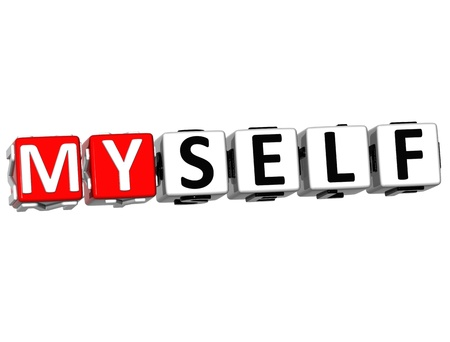 3D Believe in Myself text on white background photo