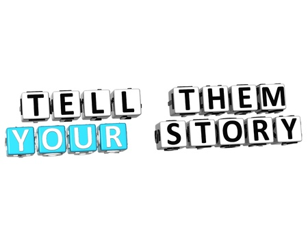 3D Tell Them Your Story on white background Stock Photo - 13081722