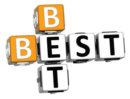 3D Best Bet Crossword on white background Stock Photo - 13081737