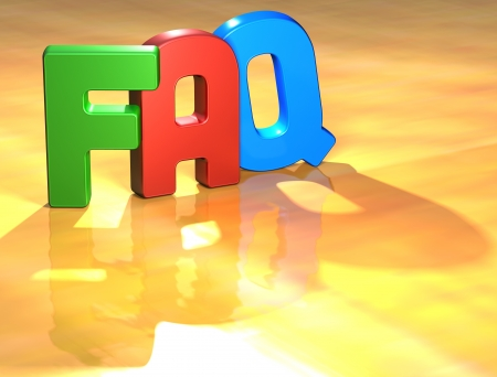 Word FAQ on yellow background (high resolution 3D image) Stock Photo - 13678121