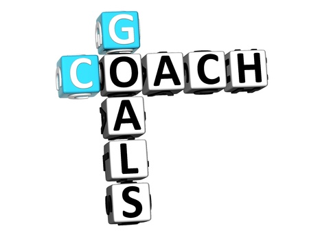 3D Goals Coach Crossword on white background photo