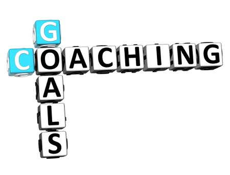 3D Goals Coaching Crossword on white background photo