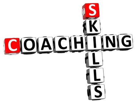 3D Skills Coaching Crossword on white background photo