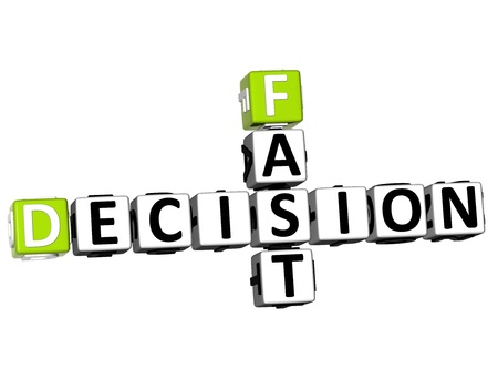3D Fast Decision Crossword on white background Stock Photo - 13700526