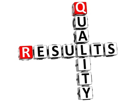 3D Quality Results Crossword on white background Stock Photo - 13700652