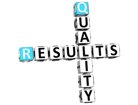 3D Quality Results Crossword on white background Stock Photo - 13700651