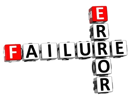 3D Failure Error Crossword on white background Stock Photo - 13700741