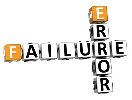 3D Failure Error Crossword on white background Stock Photo - 13700736