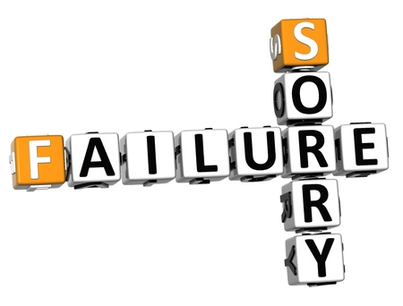 3D Failure Sorry Crossword on white background Stock Photo - 13700735